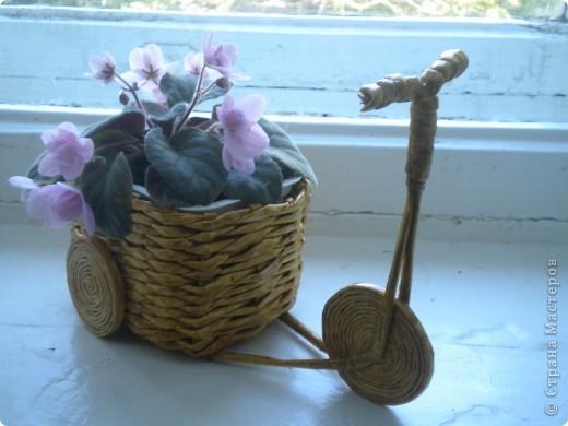 самокаты подсмотрела у rukola, но корзину сделала плетеную. фото 4