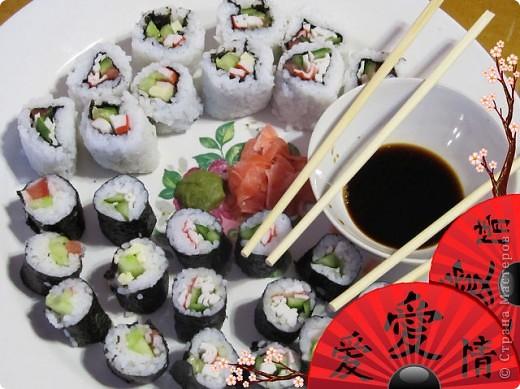 Мой первый опыт в приготовлении суши. фото 1