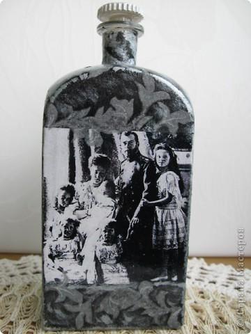 Бутылочки для Святой воды. Меня никогда не оставляла равнодушной судьба семьи нашего последнего императора...за что им ВСЕ это?...Когда решила сделать бутылочку именно для Святой воды, у меня даже не было сомнений какой должен быть сюжет...Тут и мои личные ощущения... фото 5
