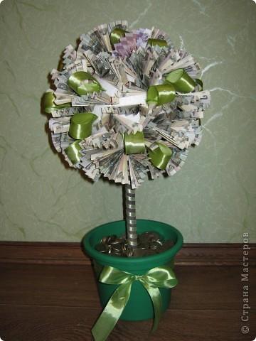 Денежное дерево своими руками из купюр топиарий