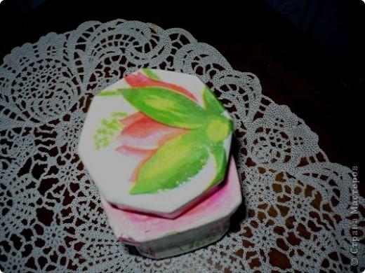 У моей дочери любимый цвет-розовый. И кухня и ванна в розовых тонах. Поэтому и хлебницу ,и ведро , что она просила разукрасить я сделала именно в этом цвете. А кашпо по собственной инициативе изобразила. Очень хотелось сделать порядочное кружево. но не было такой салфетки. поэтому решила нарисовать в стиле шитья, но получилось не очень. фото 8