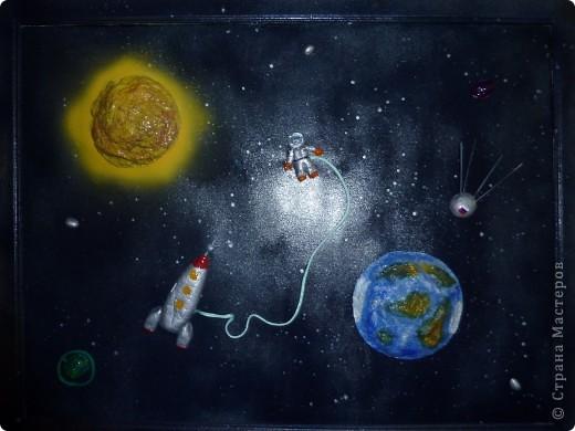 Мой мир - вселенная! Работа выполнена совместно с детьми. Рабочий материал, соленое тесто, попьемаше.