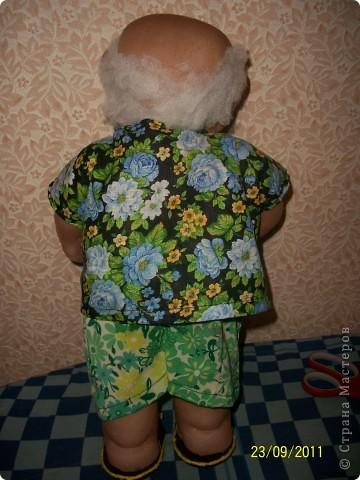 Кукла создана по образу моего дяди на его Д.Р. Рост 45 см. В руки вставится подарок))) фото 2