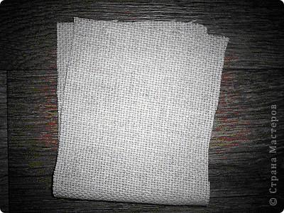Для поделки нам понадобится льняная ткань, из которой выкраиваем деталь для будущего мешочка фото 1