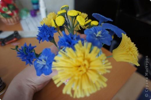 Девочки, налепила полевых цветов, хочу сделать букет. фото 2