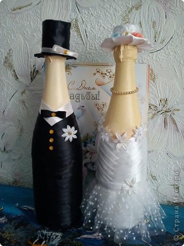 Добрый день! Вот и женился мой сынок! Наделала много бутылок,постараюсь показать все. фото 23