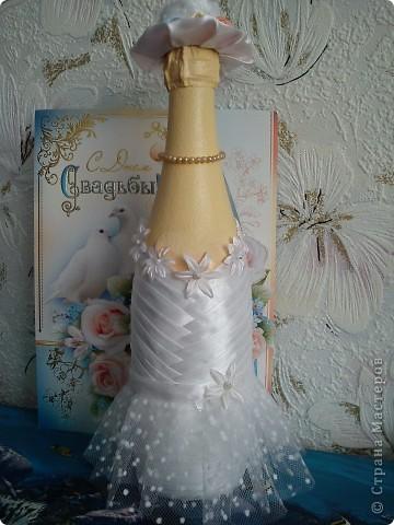 Добрый день! Вот и женился мой сынок! Наделала много бутылок,постараюсь показать все. фото 24