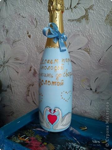 Добрый день! Вот и женился мой сынок! Наделала много бутылок,постараюсь показать все. фото 7