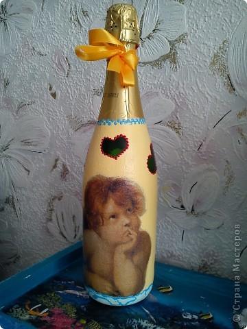 Добрый день! Вот и женился мой сынок! Наделала много бутылок,постараюсь показать все. фото 9