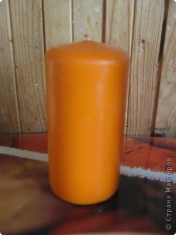 Декупаж свечи фото 2