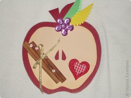 Насмотрелась я у  ya-yalo  http://stranamasterov.ru/node/235091   на урожай яблок и сделала ко дню учителя яблоки,запечённые с корицей. фото 3