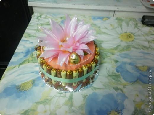 Тортик из конфет фото 1
