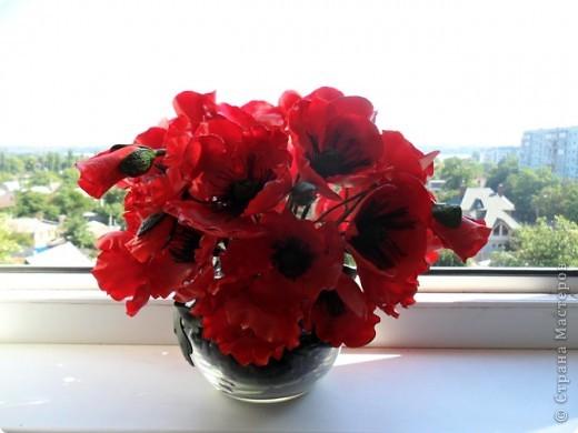 Высота композиции: 25 см Диаметр композиции: 26 см Диаметр отдельного цветка: в среднем 7 см фото 11