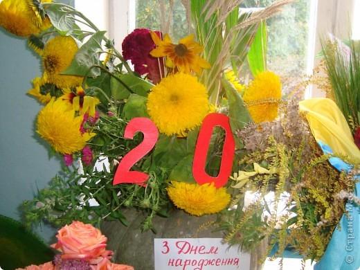 В нашей школе проходила выставка цветов посвященная 20 годам независимости Украины. Первую работу на ваш суд выношу моей дочки Насти (конечно под маминым руководством). фото 13