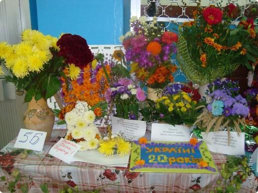 В нашей школе проходила выставка цветов посвященная 20 годам независимости Украины. Первую работу на ваш суд выношу моей дочки Насти (конечно под маминым руководством). фото 17