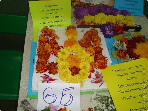 В нашей школе проходила выставка цветов посвященная 20 годам независимости Украины. Первую работу на ваш суд выношу моей дочки Насти (конечно под маминым руководством). фото 22