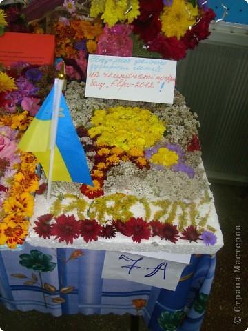 В нашей школе проходила выставка цветов посвященная 20 годам независимости Украины. Первую работу на ваш суд выношу моей дочки Насти (конечно под маминым руководством). фото 24