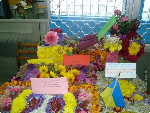 В нашей школе проходила выставка цветов посвященная 20 годам независимости Украины. Первую работу на ваш суд выношу моей дочки Насти (конечно под маминым руководством). фото 25