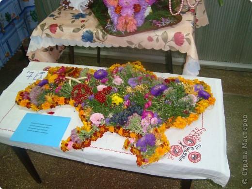 В нашей школе проходила выставка цветов посвященная 20 годам независимости Украины. Первую работу на ваш суд выношу моей дочки Насти (конечно под маминым руководством). фото 26