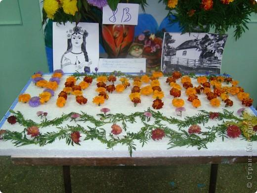 В нашей школе проходила выставка цветов посвященная 20 годам независимости Украины. Первую работу на ваш суд выношу моей дочки Насти (конечно под маминым руководством). фото 30