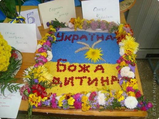 В нашей школе проходила выставка цветов посвященная 20 годам независимости Украины. Первую работу на ваш суд выношу моей дочки Насти (конечно под маминым руководством). фото 33