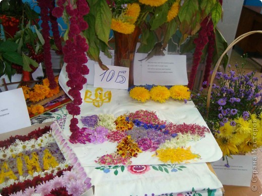 В нашей школе проходила выставка цветов посвященная 20 годам независимости Украины. Первую работу на ваш суд выношу моей дочки Насти (конечно под маминым руководством). фото 40