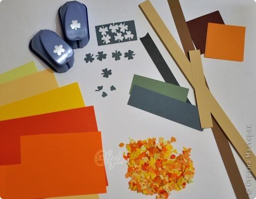 Картина панно рисунок Праздник осени Квиллинг Золотая осень Квиллинг Бумага Бумажные полосы фото 4