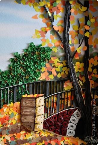 Картина панно рисунок Праздник осени Квиллинг Золотая осень Квиллинг Бумага Бумажные полосы фото 2
