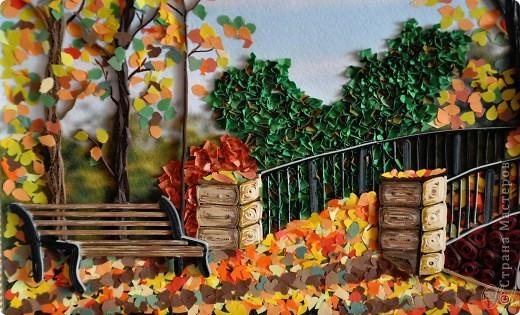 Картина панно рисунок Праздник осени Квиллинг Золотая осень Квиллинг Бумага Бумажные полосы фото 3
