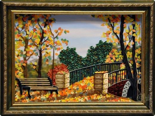 Картина панно рисунок Праздник осени Квиллинг Золотая осень Квиллинг Бумага Бумажные полосы фото 8