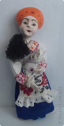 """скульптурная кукла """"Нянька с ребенком"""""""