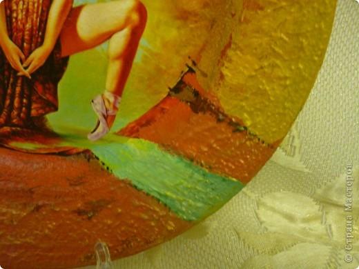 распечатка, акриловый краски,дорисовка,по краю тарелки густая акриловая краска,лак для саун фото 2