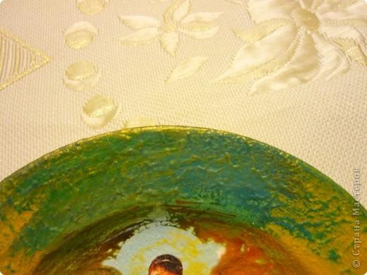 распечатка, акриловый краски,дорисовка,по краю тарелки густая акриловая краска,лак для саун фото 3