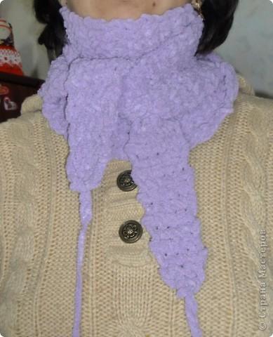 Вот он, собственно, на моей шее. Мягкий, теплый, плюшевый. фото 9