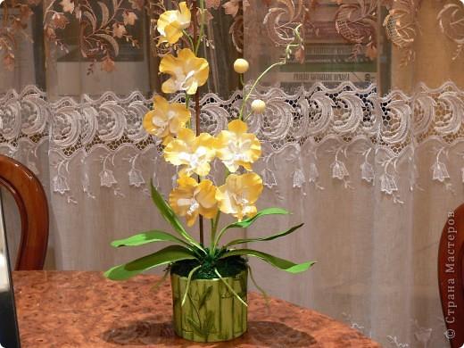 """Сегодня хочу показать свою работу в технике """" Кристальные цветы""""  Орхидея """"бабочка"""". фото 2"""