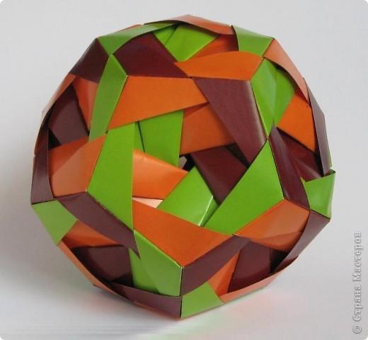 """Всем привет!  Меня недельку не было, а у вас тут столько красивого появилось!  Dodecahedron var. by Tomoko Fuse Идею брала из книги """"Unit origami essence"""", с. 126-127 фото 3"""