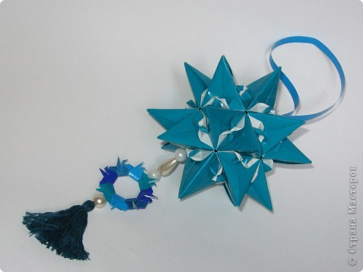 """Всем привет!  Меня недельку не было, а у вас тут столько красивого появилось!  Dodecahedron var. by Tomoko Fuse Идею брала из книги """"Unit origami essence"""", с. 126-127 фото 9"""