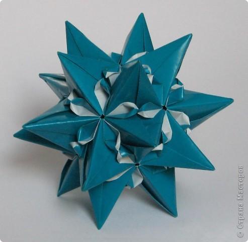 """Всем привет!  Меня недельку не было, а у вас тут столько красивого появилось!  Dodecahedron var. by Tomoko Fuse Идею брала из книги """"Unit origami essence"""", с. 126-127 фото 8"""
