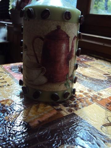 Следуя примеру остальных я тоже сделала свой топиарий,а к нему в придачу свечку и бутылочку) фото 2