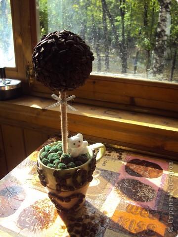 Следуя примеру остальных я тоже сделала свой топиарий,а к нему в придачу свечку и бутылочку) фото 5