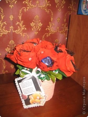 Хочу поделиться хорошим настроением! 27 сентября замечательный праздник-день воспитателя и вот такие сладкие букеты отправятся завтра в садик,который посещают мои старшие сыновья для самых чутких,добрых и заботливых людей...которые в течение всего дня заменяют моим малышам маму)))) Низкий им за это поклон и такое вот мое поздравление))) фото 2