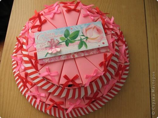 Торт на свадьбу:в нижнем ярусе 18 штук,в верхнем 12. Вдохновила работа Татьяны62-огромное спасибо за вдохновление и прекрасные работы мастериц СМ! фото 1