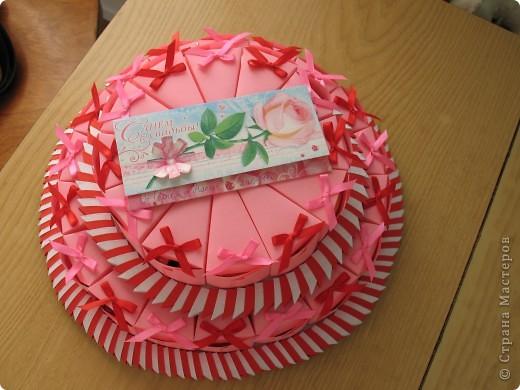Торт на свадьбу:в нижнем ярусе 18 штук,в верхнем 12. Вдохновила работа Татьяны62-огромное спасибо за вдохновление и прекрасные работы мастериц СМ! фото 4