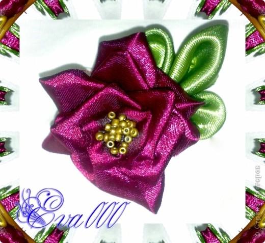 """Брошь """"Аленький цветочек"""". Моя первая работа. Изготовила на подарок. фото 3"""