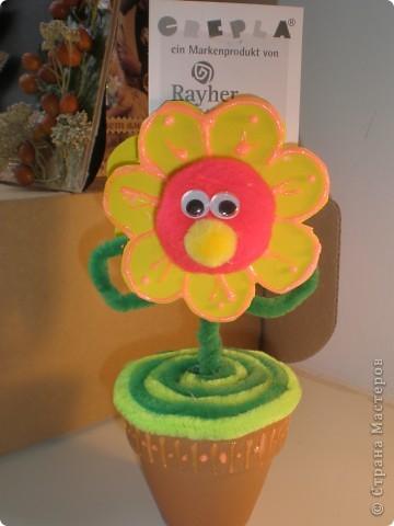 Вот такой весёлый цветочек поселился у меня на столе фото 4