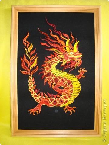 Вот представляю на суд  материц свои нове работы. Дракона этого вынашивала в голове очень давно. Ну, в смысле - не именно этого, а вообще Китайского дракона. Опять же новый год скоро. Получился вот такой новогодний символ.  фото 1