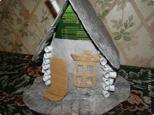 Домик в деревне (папье-маше) фото 7