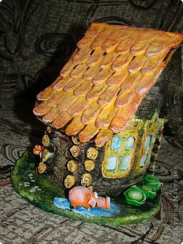 Домик в деревне (папье-маше) фото 6