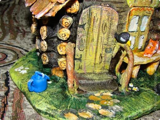 Домик в деревне (папье-маше) фото 4