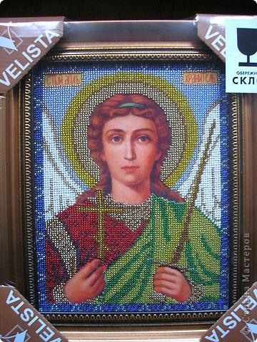Икона ангела хранителя вышитая